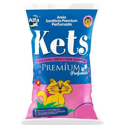 Areia Sanitária Kets Premium Perfumada para Gatos 12kg