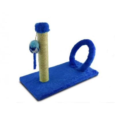 Arranhador Pet Injet Cat Crazy Arco Retangular Azul