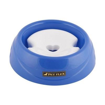 Bebedouro para Cães Pelos Longos Azul Pet Flex P