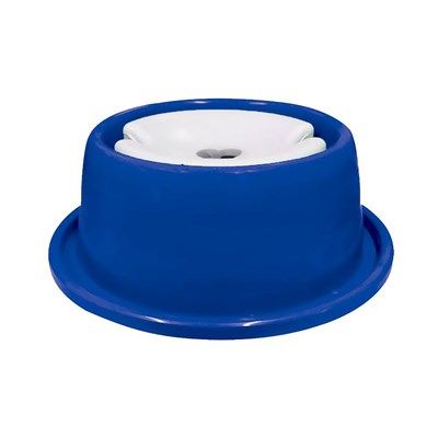 Bebedouro Plástico Anti Formiga 1L para Cães Furacão Pet Azul