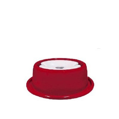 Bebedouro Plástico Anti Formiga 1L para Cães Furacão Pet Vermelho