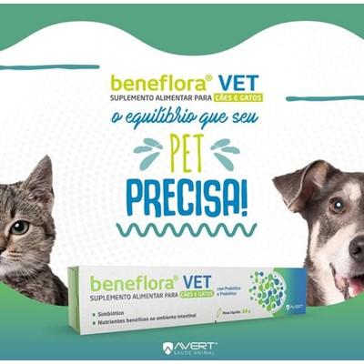 Beneflora Vet suplemento para cachorros e gatos 14gr