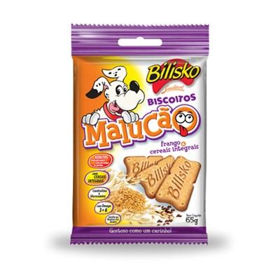 Biscoito Bilisko Malucão Frango e Cereais para Cães 65gr