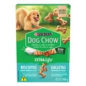 Biscoito Dog Chow Carinhos Integral para Cães Filhotes 300gr