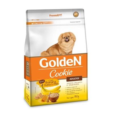 Biscoito Golden Coockie para Cães Adultos Banana  Aveia e mel 350gr