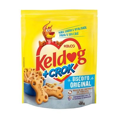 Biscoito Keldog mais Crok Original para Cães 400gr