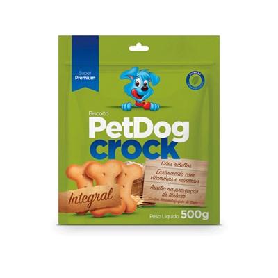 Biscoito Pet Dog Crock Integral para Cães 500gr