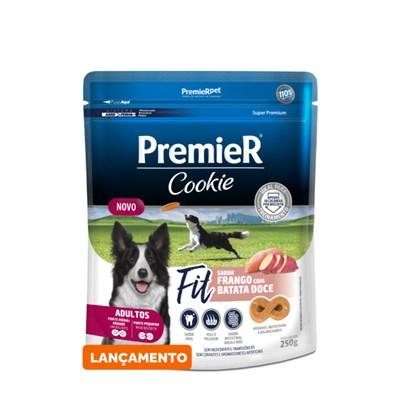 Biscoito Premier Cookie Fit Cachorro Adulto Frango/ Batata Doce 250gr