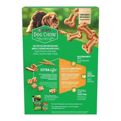 Biscoito Purina Dog Chow Extra Life para cachorros adultos minis e pequenos sabor frango 500g