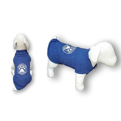 Blusa Canelada Sem Manga para Cães e Gatos Azul Fabrica Pet N 05