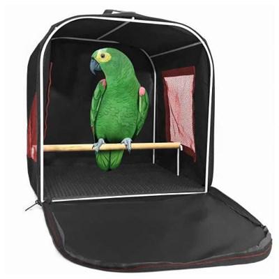 Bolsa de Transporte para Papagaio Preta