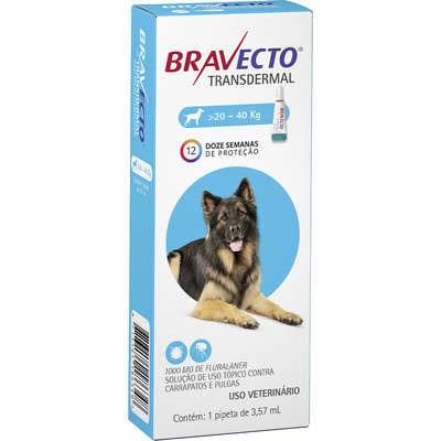 Bravecto transdermal antipulgas e carrapatos para cachorros 20 - 40kg