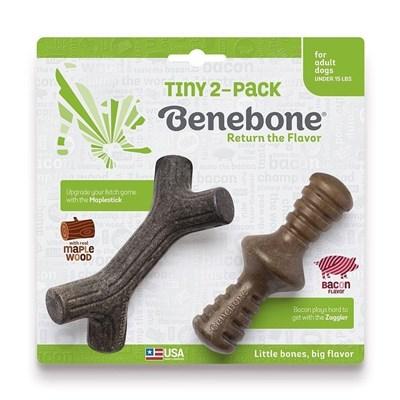 Brinquedo Benebone Tiny 2-Pack Bacon para Cães