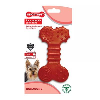 Brinquedo Durabone Flat Odontopet para Cães Vermelho Pet Flex P