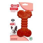 Brinquedo Durabone Flat Odontopet para Cães Vermelho Pet Flex P M