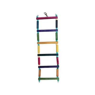 Brinquedo Kakatoo Escada Degraus para Pássaros 35cm