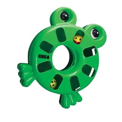 Brinquedo Kong Puzzle Toy Frog para Gatos