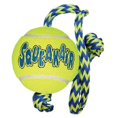 Brinquedo Kong Squeakair Ball Rope Medium para Cães