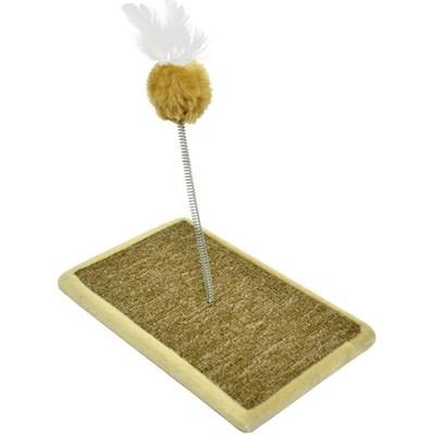 Brinquedo São Pet Arranhador Carpete para Gatos Bege