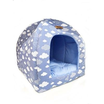 Cabana Nuvem para Cães e Gatos Azul Azul
