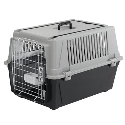 Caixa de Transporte Atlas Cinza para Cães Ferplast 40