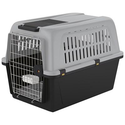 Caixa de Transporte Atlas Cinza para Cães Ferplast 50