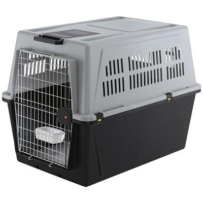 Caixa de Transporte Atlas Cinza para Cães Ferplast 70
