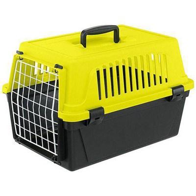 Caixa de Transporte Atlas para Cães e Gatos Amarelo Ferplast