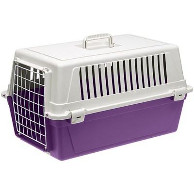 Caixa de Transporte Atlas para Cães e Gatos Violeta Ferplast