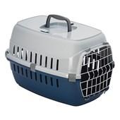 Caixa de Transporte com Trava Europa Azul para Cães e Gatos N02