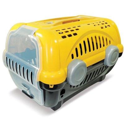 Caixa de Transporte Furacão Pet Luxo Amarela N03