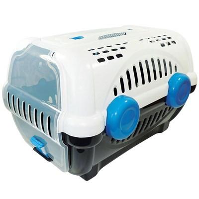 Caixa de Transporte Furacão Pet Luxo Branca e Azul N01