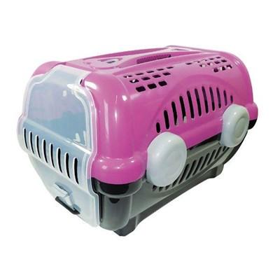 Caixa de Transporte Furacão Pet Luxo Rosa N01
