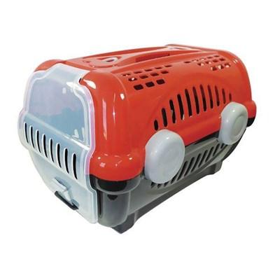 Caixa de Transporte Furacão Pet Luxo Vermelha N02