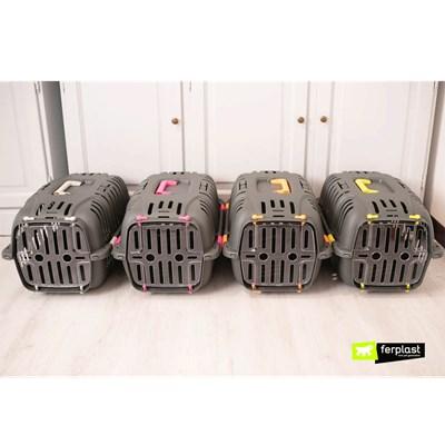 Caixa de Transporte Jet para Cães e Gatos Cinza