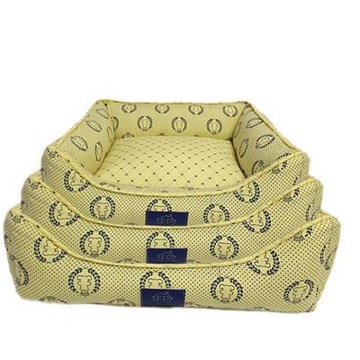 Cama Coroa Amarela para Cães e Gatos Fabrica Pet M
