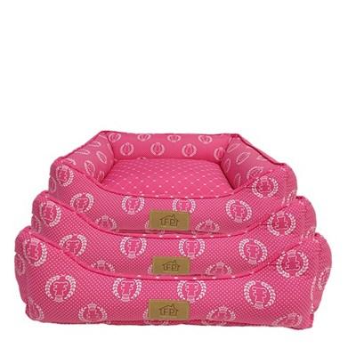 Cama Coroa Pink para Cães e Gatos Fabrica Pet G