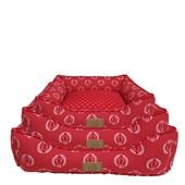 Cama Coroa Vermelha para Cães e Gatos Fabrica Pet M