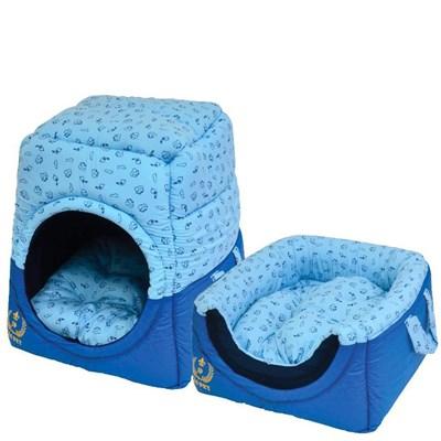 Cama São Pet Tunel Florence para Cães e Gatos Azul N03