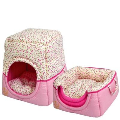 Cama São Pet Tunel Florence para Cães e Gatos Rosa N03