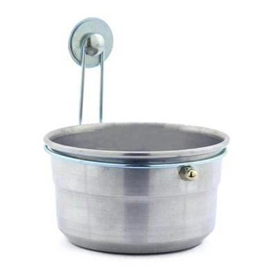 Caneca Kakatoo de Alumínio com Trava para Pássaros P