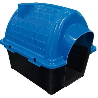 Casa Plástica Iglu Azul Furacão Pet N02