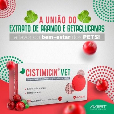 Cistimicin Vet suplemento para cachorros e gatos 30 Comprimidos
