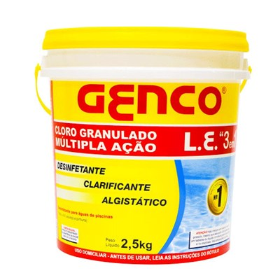 Cloro Granulado Genco LE Múltipla Ação 2,5 kg