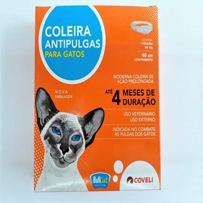 Coleira Antipulgas Bullcat para Gatos 15gr