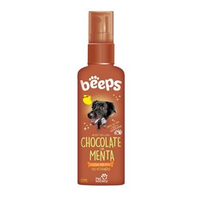 Colônia Beeps Body Splash Chocolate  Menta para Cães e Gatos 120ml