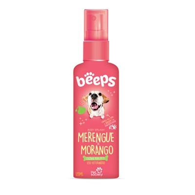 Colônia Beeps Body Splash Merengue Morango para Cães e Gatos 120ml