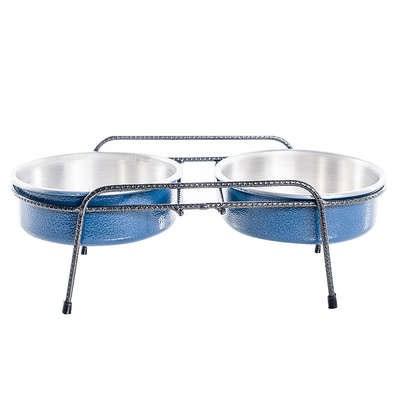 Comedouro NF Aramado Duplo Azul 1,2 L