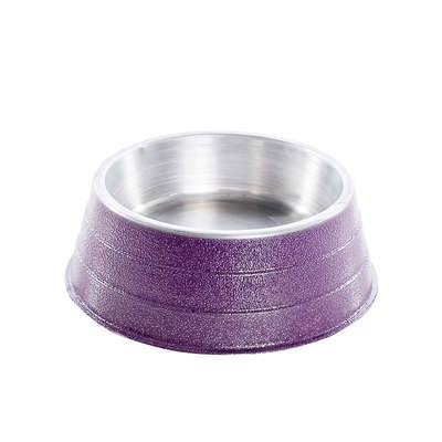 Comedouro NF de Alumínio Pesado Lilás 1,2 L