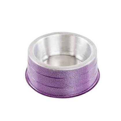 Comedouro NF de Alumínio Pesado Lilás 300ml
